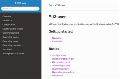 yii2 tutorial documentation how to program with yii2 integrating user registration