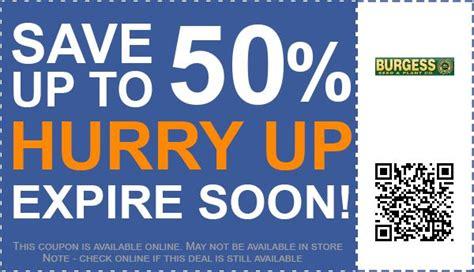 burgess coupons 50 off coupon promo code june 2017