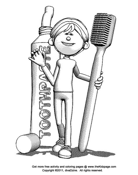 Free Coloring Pages Of Toothbrush Toothbrush Coloring Page