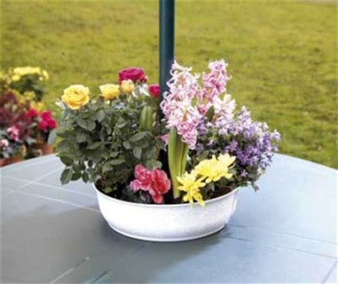 Patio Table Flower Pots Parasol Flower Planter Pot Patio Table Garden Furniture Ebay