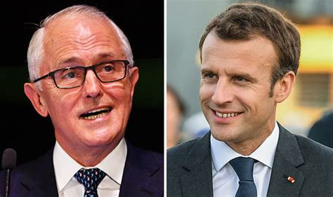 emmanuel macron delicious wife macron blunder french president thanks australian pm and