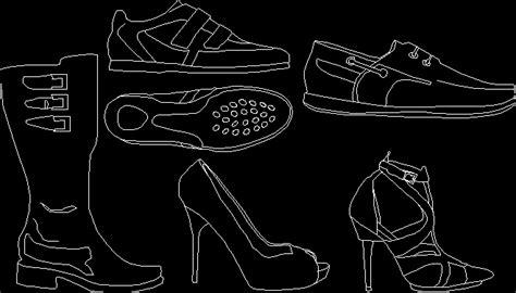 shoes dwg block  autocad designs cad