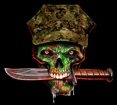 marine skull t shirt b133 ebay