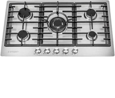 modern gas cooktop cosmo 34 quot gas cooktop modern cooktops by cosmo