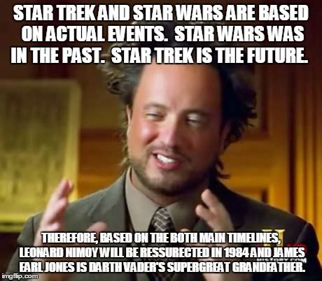 Star Wars Star Trek Meme - ancient aliens meme imgflip