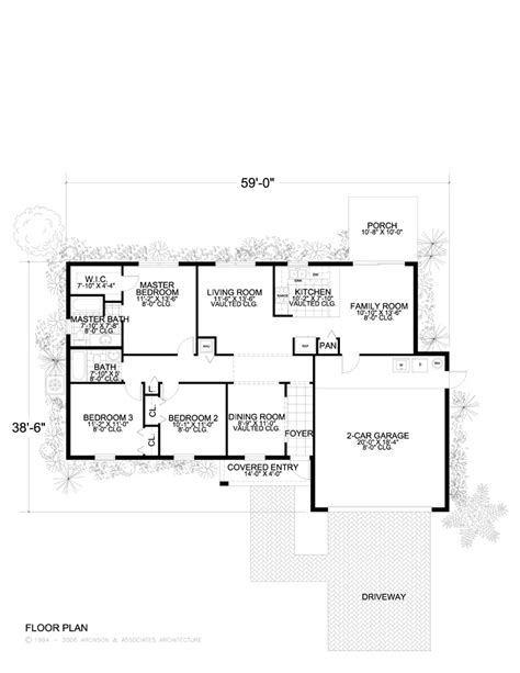 large one story floor plans home plans detail