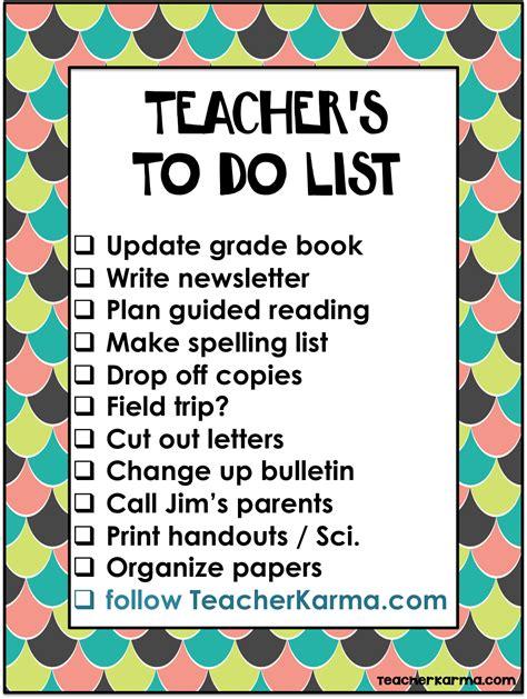 printable to do list for teachers teacher karma organize your classroom with these colorful