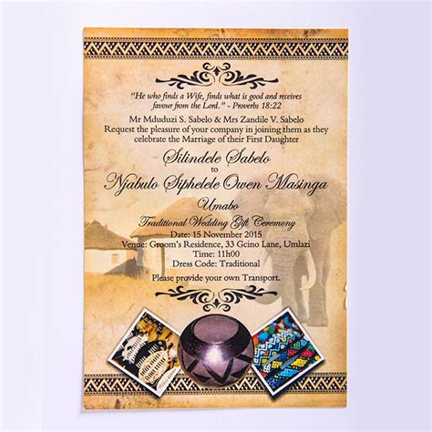 printable umembeso invitations copy house durban invites