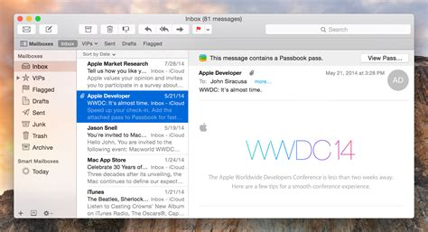 layout apple mail os x 10 10 yosemite the ars technica review ars technica