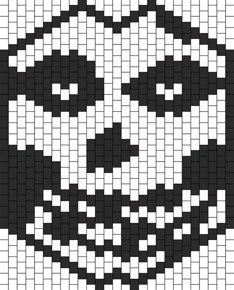 black and white kandi mask pattern misfits mask bead pattern peyote bead patterns misc