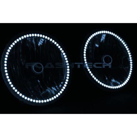 jeep led headlights jeep wrangler white led halo headlight kit 2007 2015