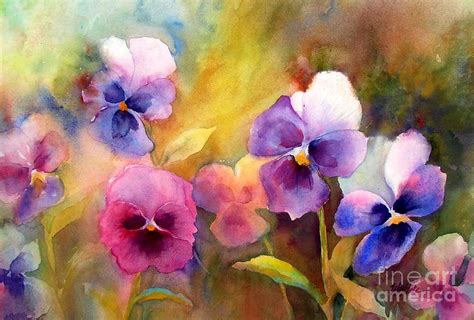 Wall Murals Beach Scenes pansy party painting by wendy westlake