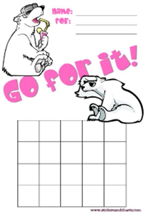 free printable animal reward charts polar bear charts make and print behavior charts for