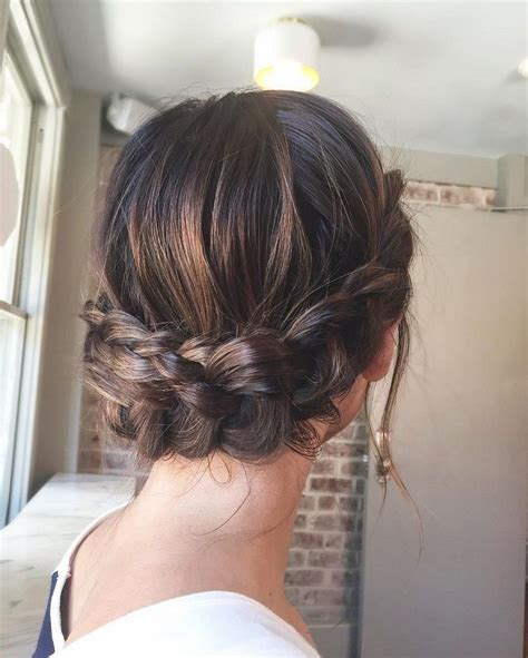 Updo Braid Hairstyles by Beautiful Crown Braid Updo Wedding Hairstyle For