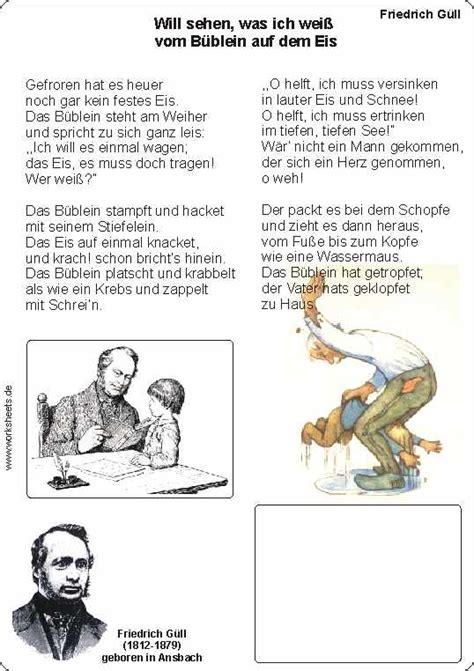 Lebenslauf Schuler Grundschule Das B 252 Blein Auf Dem Eis Gedicht F 252 R Grundsch 252 Ler