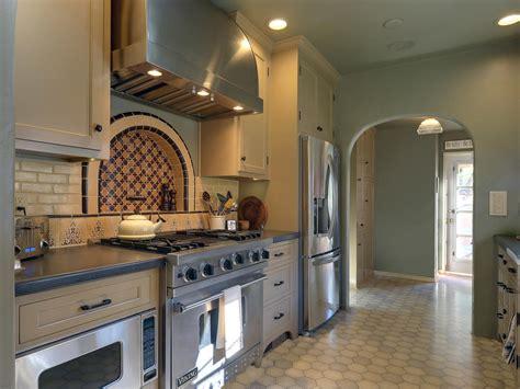 spanish style decorating ideas hgtv spanish style galley kitchen melissa salamoff hgtv