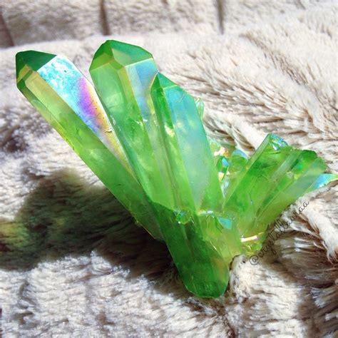 Rainbow Green rainbow green witch shiny crystals