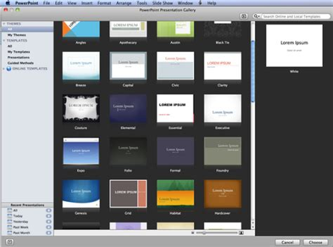powerpoint templates for mac 2011 bt fibre blackberry tablet and view in
