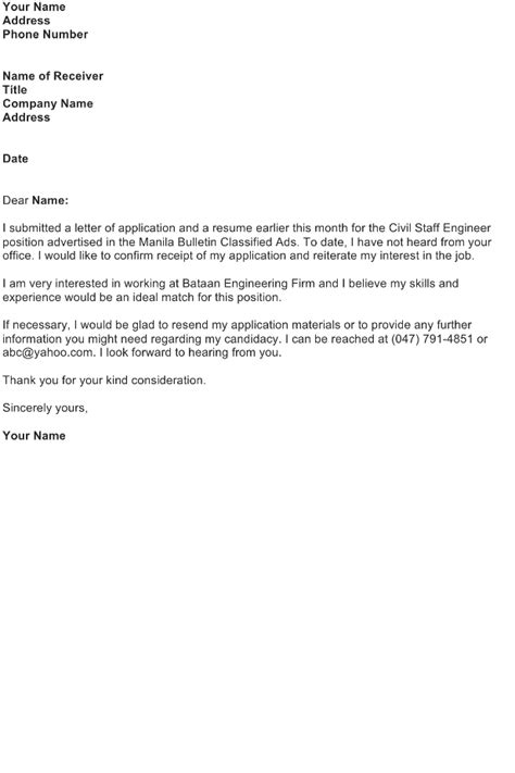 application letter for follow up follow up letter for application sludgeport693 web