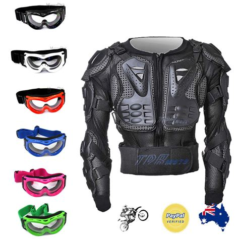 motocross gear ebay kid protective gear quad pit dirt bike goggles body armour