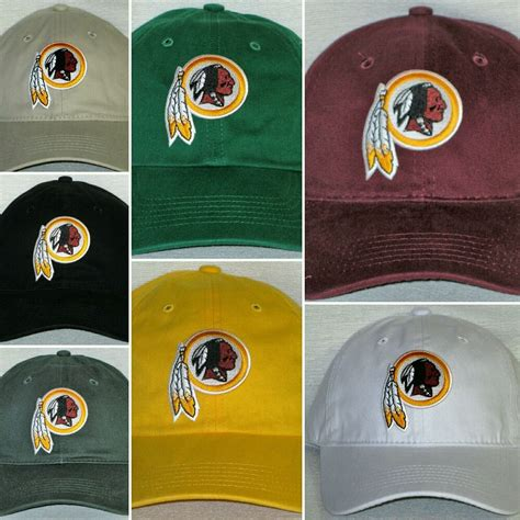 redskins colors washington redskins polo style cap hat classic nfl patch