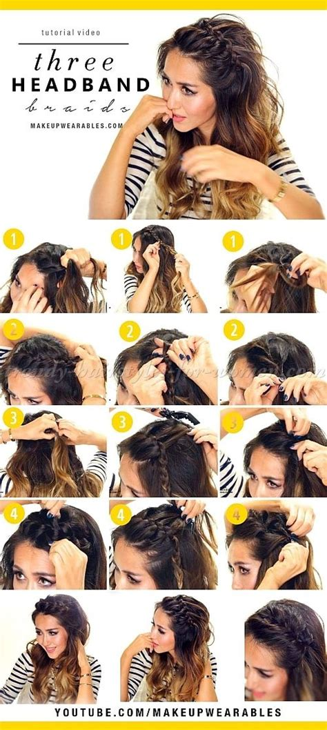 hairstyles with curls and braids step by step hairstyle tutorials hairstyles step by step 3 easy
