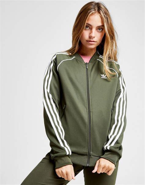 giacche tuta donna adidas originals superstar giacca sportiva verde opazzariello