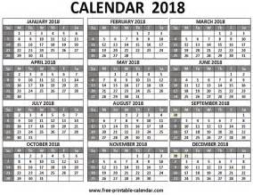2018 Calendar One Page Calendar Printable One Page Home Remodeling And