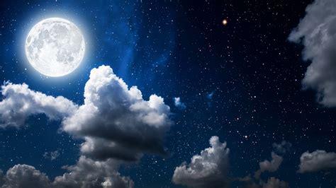 moon clouds dark sky wallpapers hd wallpapers id