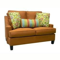 joliet burnt orange fabric sofa and loveseat free