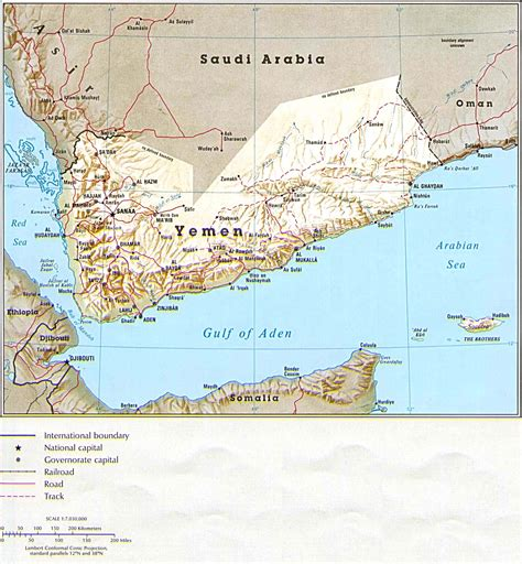 map of yemen yemen maps perry casta 241 eda map collection ut library