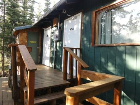 Denali Salmon Bake Cabins by Side Window Cabin 2 And Doors To Common Toilets Picture