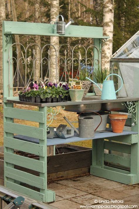 diy potting bench with sink best 25 pallet potting bench ideas on pinterest
