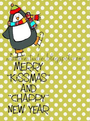 chappy new year merry kissmas and chappy new year gift digital