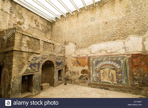 buy house rome inside a roman house in the ancient town of herculaneum italy stock photo royalty