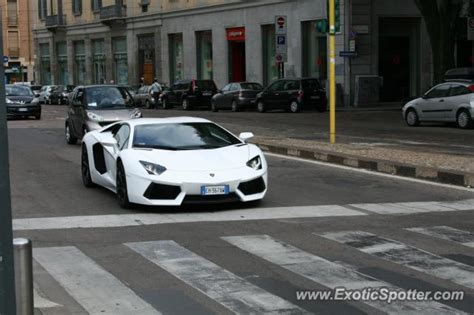 Italy Lamborghini by Lamborghini Aventador Spotted In Milan Italy On 07 18 2011