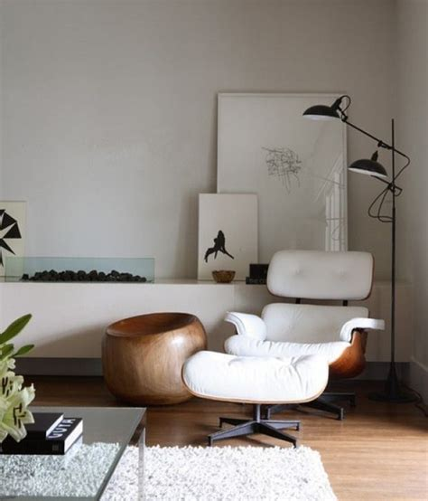 Eames Chair Living Room Eames Lounge Chair In Living Room Home Living Room Eames Black Bookshelf And