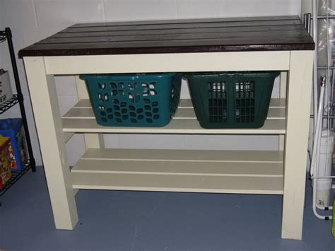 Laundry Folding Station Home Design Lover The Most Laundry Room Table With Storage