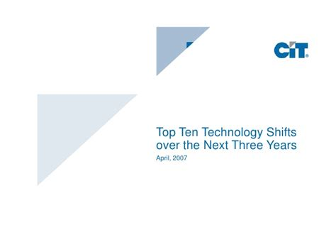 2007 Top 10 Trends by Top 10 Trends Aitp Windy City Chapter