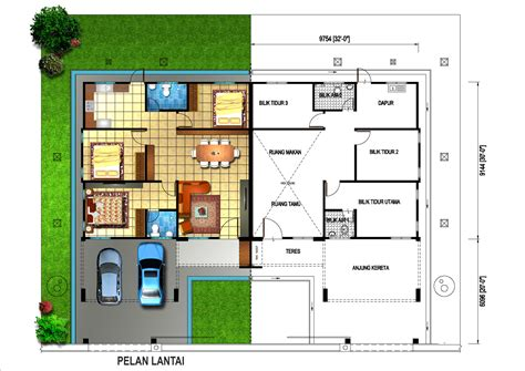 single detached house floor plan single storey semi detached house plans home deco plans