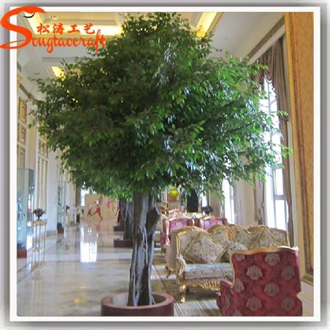 life size cheap artificial big trees landscape plastic home garden artificial ficus tree indoor no leaves for