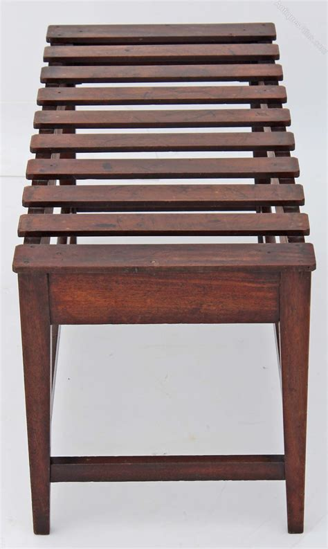antique luggage rack victorian mahogany stool luggage rack stand antiques atlas