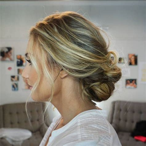 soft updo hairstyles loose beachy effortless bridal hair bridal hair