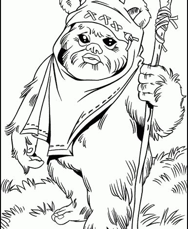 Backyard Gifts by Ewok1 Ewok Starwars Coloring Pages From 101coloringpages