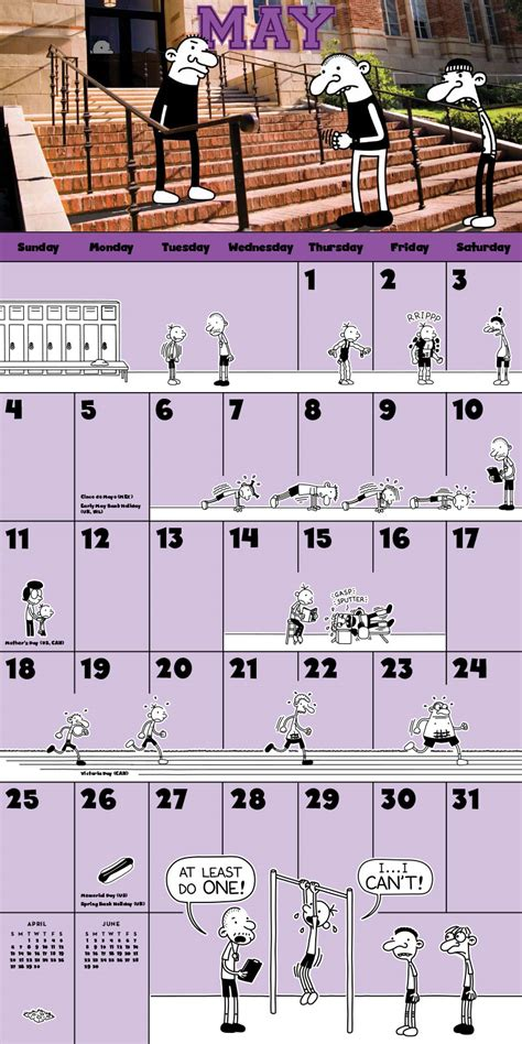 the wimpy kid 2018 calendar 2014cal 7 wimpy kid