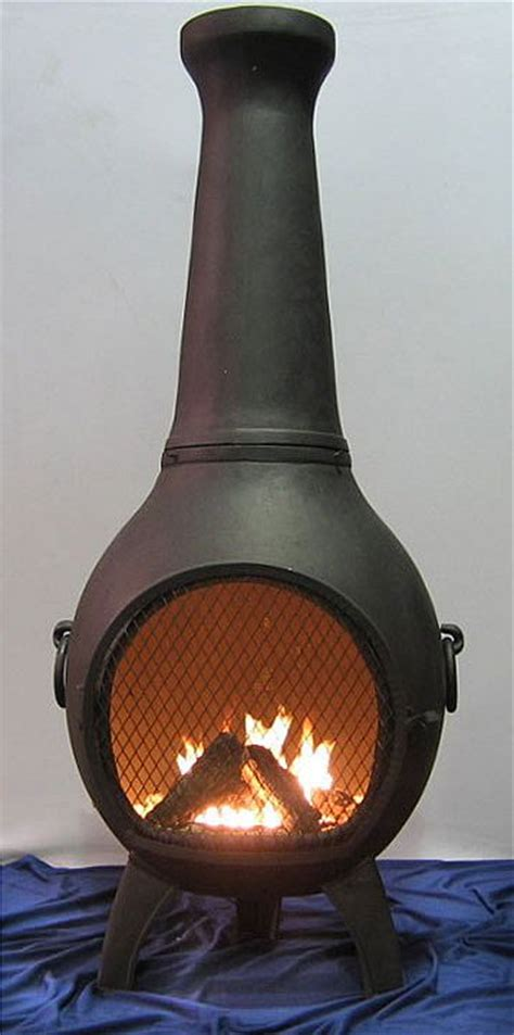 chiminea wood burning prairie style chiminea alch027