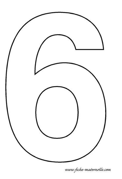 Template For Preschool by Number 6 Template S Birthday Tes