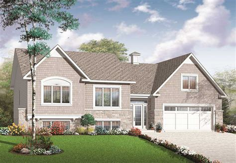 split level multi level house plan 2136 sq ft home plan