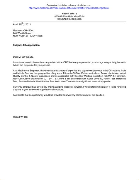 Cover Letter Format For Apply by 8 Cover Letter Sle For Application Basic Appication Letter