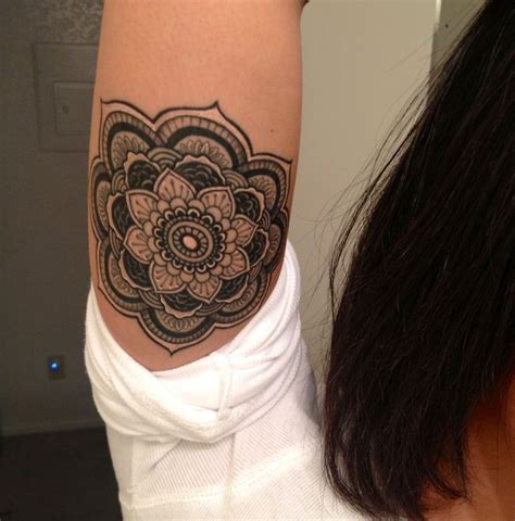 mandala tattoo location cute little black ink mandala flower tattoo for girls on
